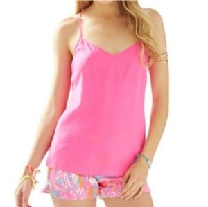 Lilly Pulitzer Dusk hot pink racerback top